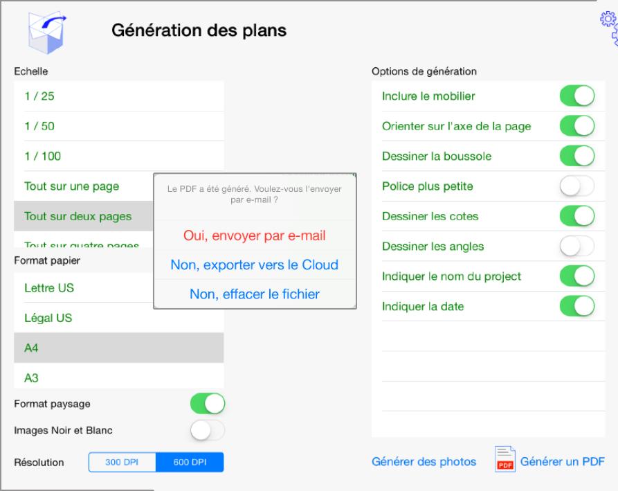 generation de plan